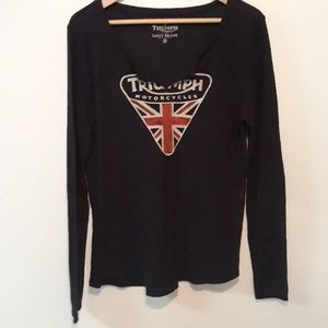 Lucky Brand Long Sleeve Triumph Motorcycle Thermal